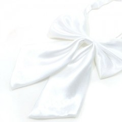 Szatén női csokornyakkendő - Fehér
