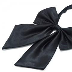 Szatén női csokornyakkendő - Fekete