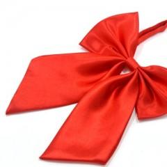 Szatén női csokornyakkendő - Piros