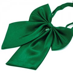 Szatén női csokornyakkendő - Zöld Csokornyakkendők
