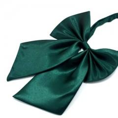 Szatén női csokornyakkendő - Sötétzöld Csokornyakkendők