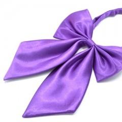 Szatén női csokornyakkendő - Lila