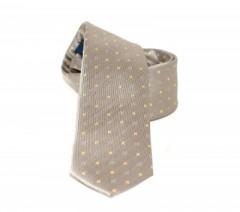 Goldenland slim nyakkendő - Bézs mintás