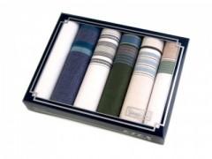 Ajándék zsebkendő szett - 6 db Pamut zsebkendő