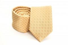 Prémium slim nyakkendő - Sárga mintás