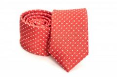 Prémium slim nyakkendő - Piros mintás