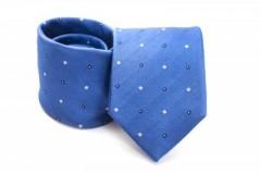Prémium selyem nyakkendő - Égszínkék kis kockás Kockás nyakkendők