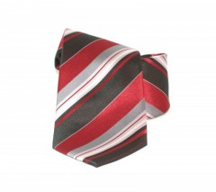Classic prémium nyakkendő - Meggypiros csíkos