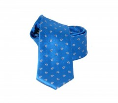 Goldenland slim nyakkendő - Azúrkék mintás