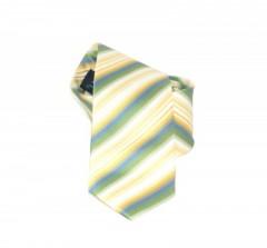 Classic prémium nyakkendő - Zöld-sárga csíkos