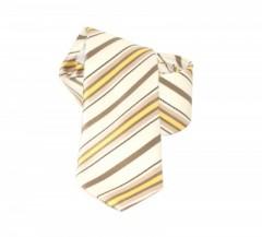 Classic prémium nyakkendő - Drapp-arany csíkos