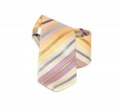 Classic prémium nyakkendő - Sárga-lila csíkos Csíkos nyakkendő