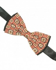 Zsorzsett szatén csokornyakkendő - Fekete-kockás Csokornyakkendők