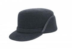 Férfi gyapjú füles kalap - Grafit