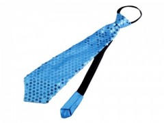 Nyakkendő flitterekkel - Azúrkék Női nyakkendők