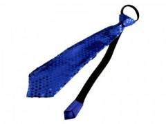 Nyakkendő flitterekkel - Királykék Női nyakkendők