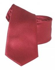 Goldenland slim nyakkendő - Meggybordó Egyszínű nyakkendők