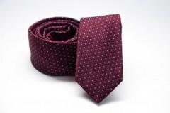 Prémium slim nyakkendő - Bordó pöttyös