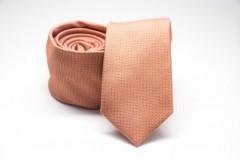 Prémium slim nyakkendő - Barack mintás