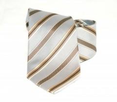 Goldenland nyakkendő - Szürke-arany csíkos