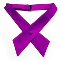 Szatén női kereszt nyakkendő - Lila Csokornyakkendők