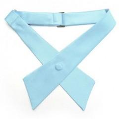 Szatén női kereszt nyakkendő - Világoskék Csokornyakkendők