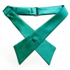 Szatén női kereszt nyakkendő - Zöld Csokornyakkendők