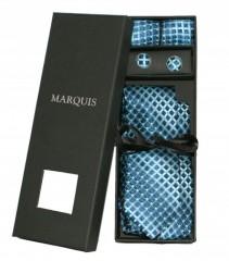 Marquis nyakkendő szett - Türkíz mintás Kockás nyakkendők