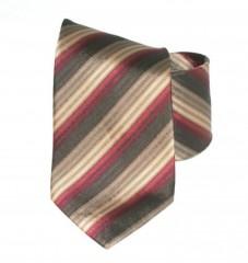 G.L selyemnyakkendő  - Bordó-arany csíkos Selyem nyakkendők