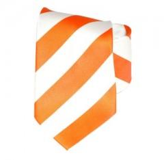 G.L selyemnyakkendő  - Narancs-fehér csíkos Csíkos nyakkendők
