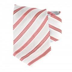 Goldenland nyakkendő - Szürke-piros csíkos