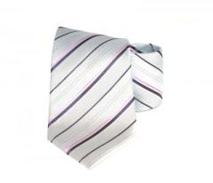 Goldenland nyakkendő - Ezüst-lila csíkos