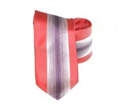 Classic prémium nyakkendő - Piros-lila csíkos