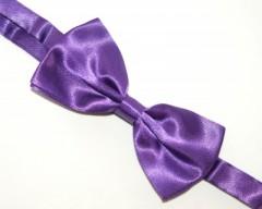 Zsorzsett szatén csokornyakkendő - Lila
