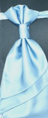 Francia nyakkendő,díszzsebkendővel - Égszínkék