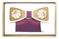 Fa csokornyakkendő szett - Kosárlabda