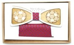 Fa csokornyakkendő szett - Focilabda Csokornyakkendők