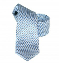 Goldenland slim nyakkendő - Kék aprómintás