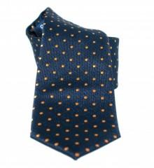 Goldenland slim nyakkendő - Kék-narancs pöttyös