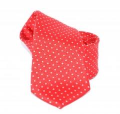 Goldenland slim nyakkendő - Piros aprópöttyös
