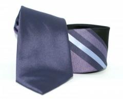 Goldenland slim nyakkendő - Lila csíkos Csíkos nyakkendők
