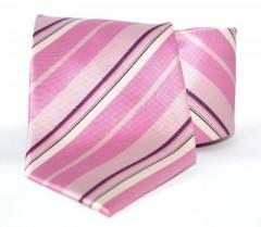 G.L selyemnyakkendő  - Rózsaszín csíkos Csíkos nyakkendők