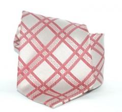 G.L selyemnyakkendő  - Ezüst kockás Selyem nyakkendők