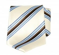 Goldenland nyakkendő - Drapp-kék csíkos
