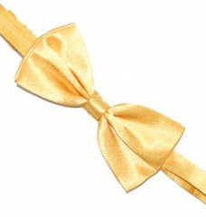 Zsorzsett szatén csokornyakkendő - Aranysárga