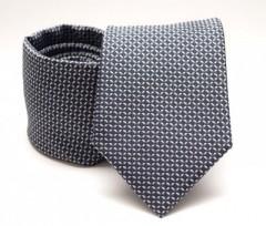 Prémium nyakkendő -  Kékesszürke kockás
