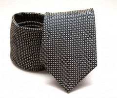 Prémium nyakkendő -  Fekete kockás Kockás nyakkendők