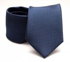 Prémium nyakkendő -  Sötétkék kockás