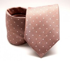 Prémium nyakkendő -  Aranybarna pöttyös Aprómintás nyakkendők