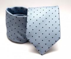 Prémium nyakkendő -  Acélkék pöttyös Aprómintás nyakkendők